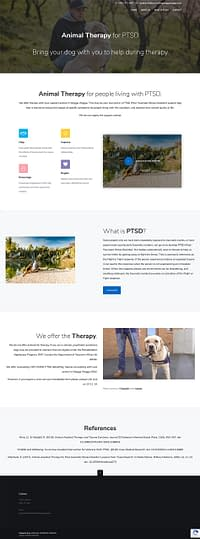 Animal Therapy for PTSD website